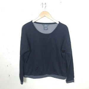 Aether Long Sleeve Mesh Back Boxy Top 2